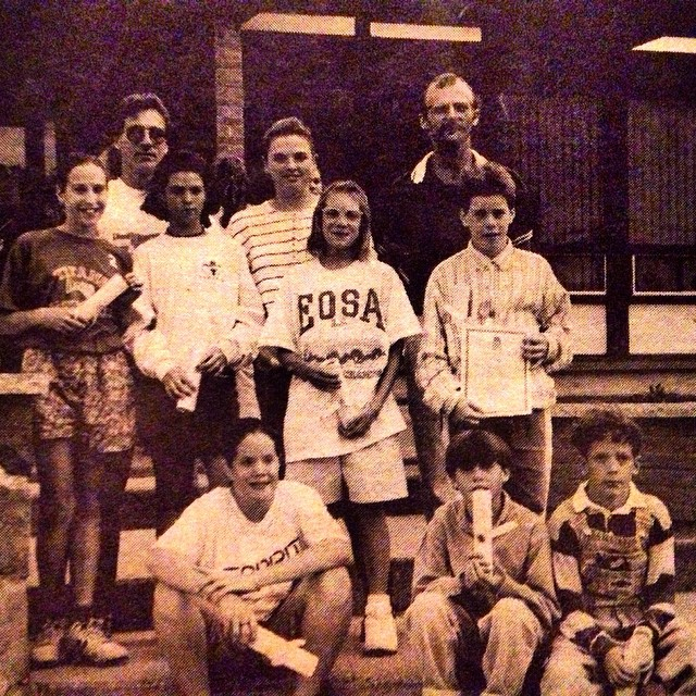 The time the mayor gave us awards for #swimming. My guess is #1993. #tbt #orcaswimteam #hawkesbury #swimteam