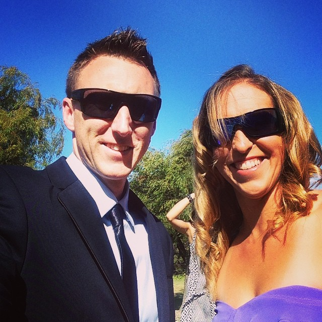 All dressed up with @ryansprice Thanks @caitlin_stick for the beautiful day! #westoz #sunny #wedding #southwest #wisewinery