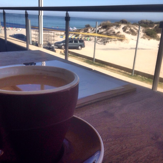 Beautiful spot for a delicious coffee this morning. Nice to catch up @aliceabba #morningcoffee #wacoast #leightonbeach #bibandtucker #goodcoffee