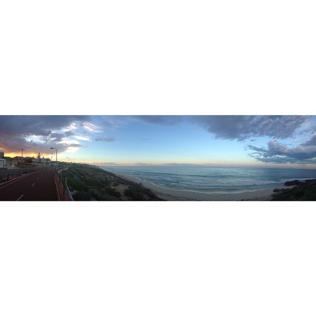 Sunrise pano, morning Perth! #westcoast #sunrise #pano #westoz #beachlife #coastal #perth #wabeaches #mettams #nofilter