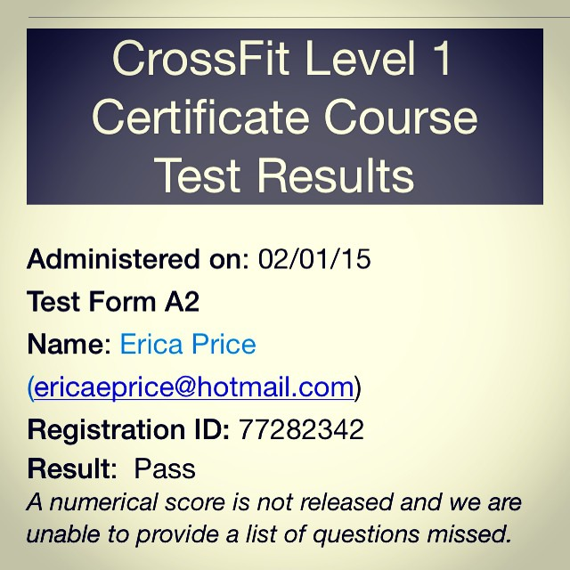 Clear for take off! #crossfit #levelone #cert #crossfitperth #box6017