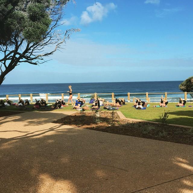 Yoga in Yallingup #amazing #yoga #coastallife #yallingup #southwestoz #westoz #yoga #distractingview #wawaves #peeling #surforyoga