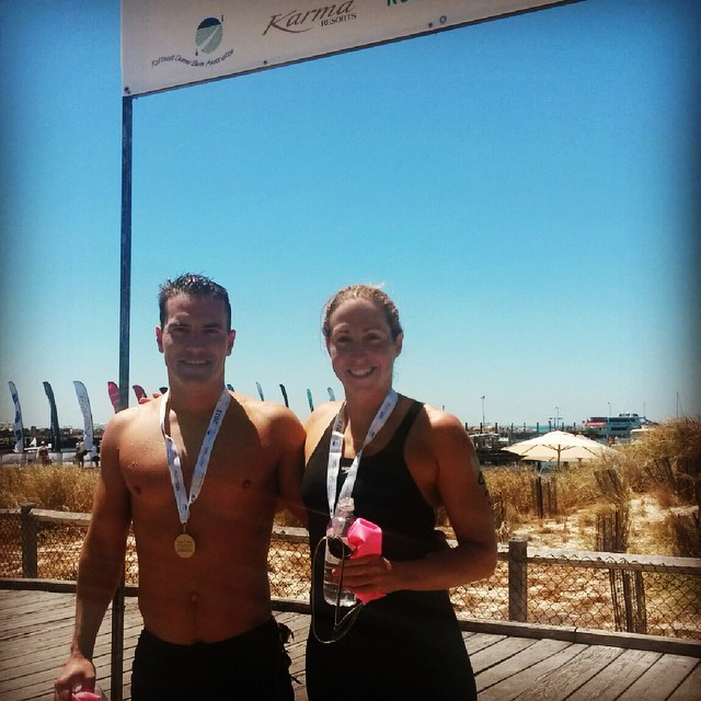 Duo #3 complete! 2nd in our age group, stoked with that! Thanks support crew @hanjan44 @brittbrymer @kaereb #rcs2015 #rottoswim #openwaterswimming #onyest